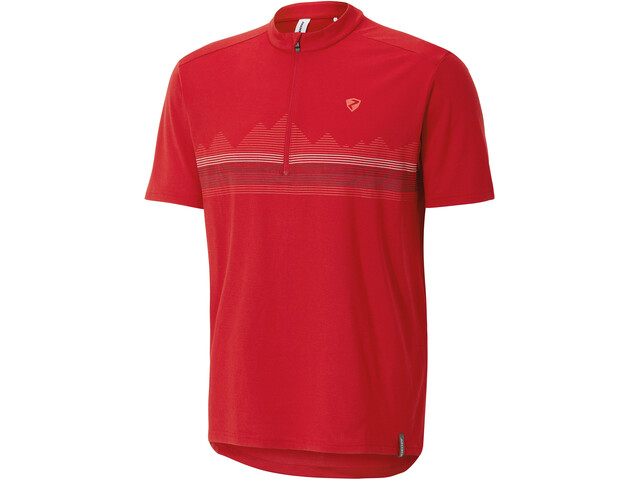 Ziener Cabuto Maillot de cyclisme Homme, red pop